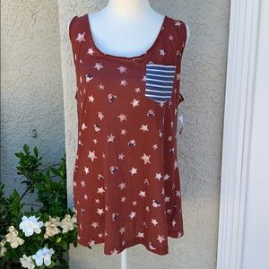 Disney Park Red/White/Blue Minnie Mouse Tank L New